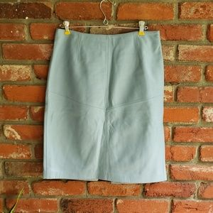 Baby Blue Buttery Soft Leather Skirt Size 8
